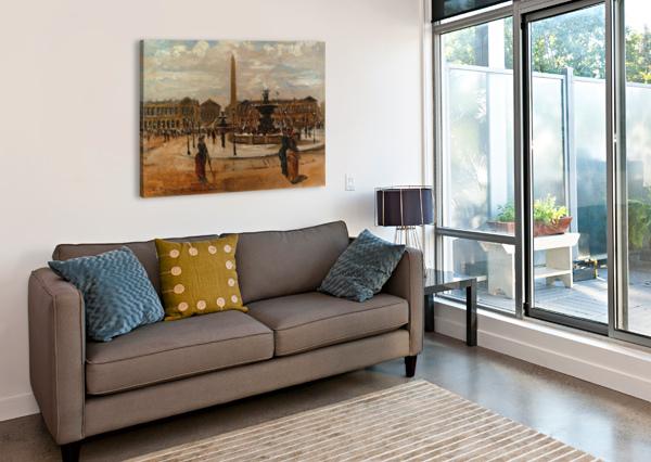 PLACE OF THE CONCORDE ANIMATED CARLO BRANCACCIO  Impression sur toile