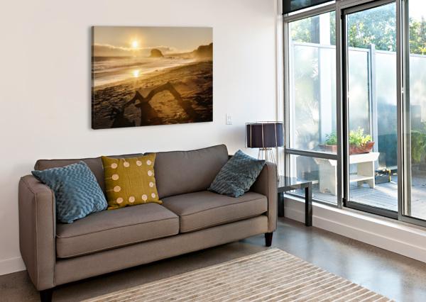 SEASHORE AT SUNSET, SAN SIMEON STATE PARK; CALIFORNIA, UNITED STATES OF AMERICA PACIFICSTOCK  Canvas Print