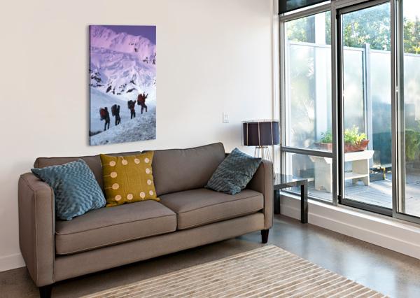 MOUNTAIN CLIMBERS BYRON GLACIER SOUTHCENTRAL AK SPRING PACIFICSTOCK  Canvas Print
