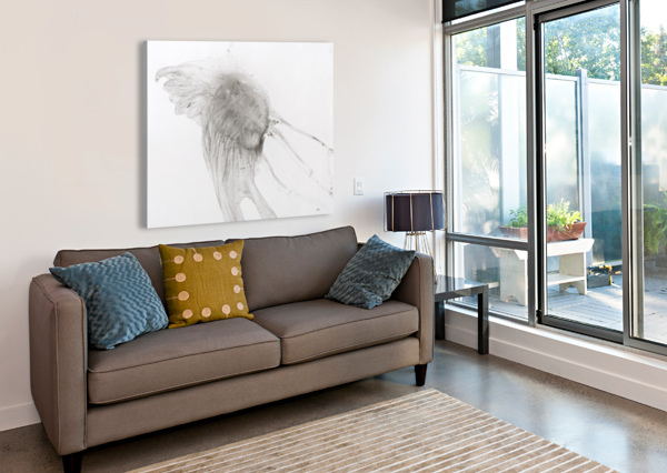 JELLYFISH AGAINST A WHITE BACKGROUND PACIFICSTOCK  Canvas Print