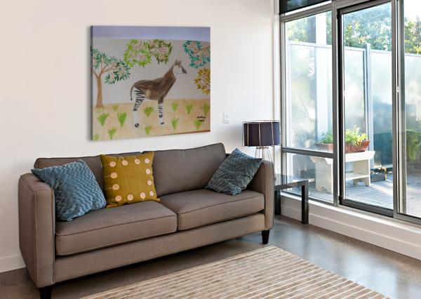 OKAPI ANDRES BEATE  Canvas Print