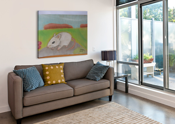 WHITE MOUSE ANDRES BEATE  Canvas Print