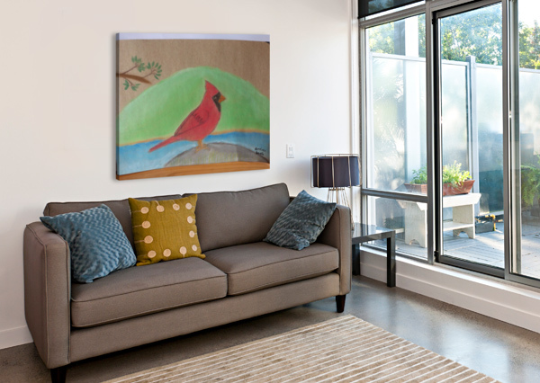 RED CARDINAL  ANDRES BEATE  Canvas Print
