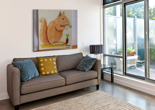 SQUIRREL  ANDRES BEATE  Canvas Print