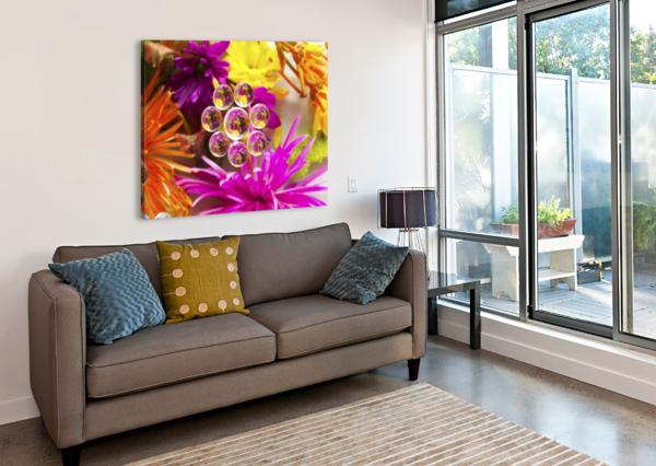 FLOWERS REFRACTION 9 PJ LALLI  Canvas Print