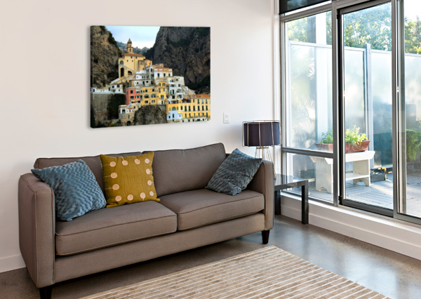 AMALFI  OLD TOWN - ITALY BENTIVOGLIO PHOTOGRAPHY  Canvas Print