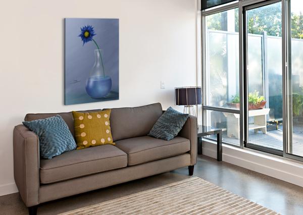 BLUE CHARBEL ELIA  Canvas Print