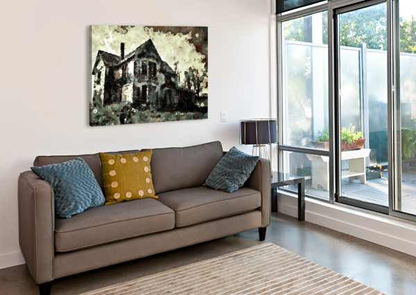 HAUNTED CANDY HOUSE DALE BURKETT  Canvas Print