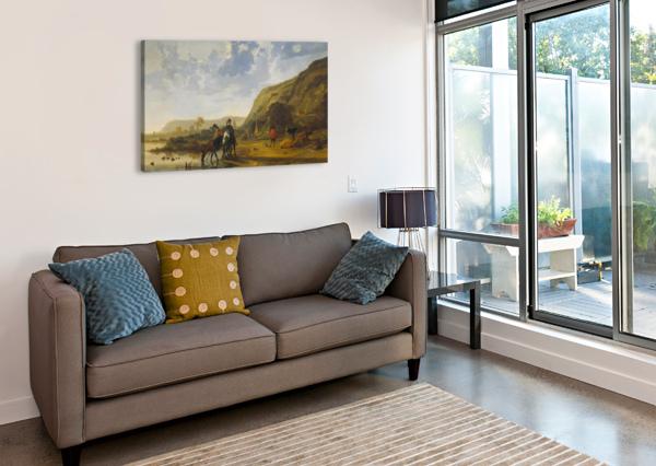 RIVIERLANDSCHAP MET RUITERS AELBERT CUYP  Canvas Print