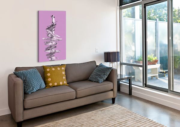 GRAPHIC ART SIGNPOST | PINK MELANIE VIOLA  Canvas Print