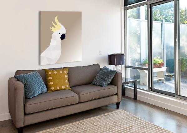 COCKATOO BIRD LOW POLY ART RIZU_DESIGNS  Canvas Print
