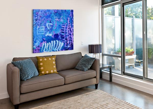 BLUE COLAB. ARTS EDUCATION ARTIST THE ARC OF THE CAPITAL AREA  Canvas Print