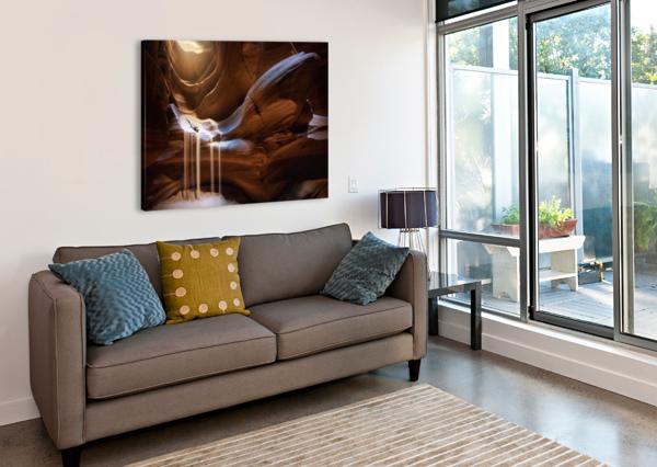 ANTELOPE WATERFALL 1X  Canvas Print