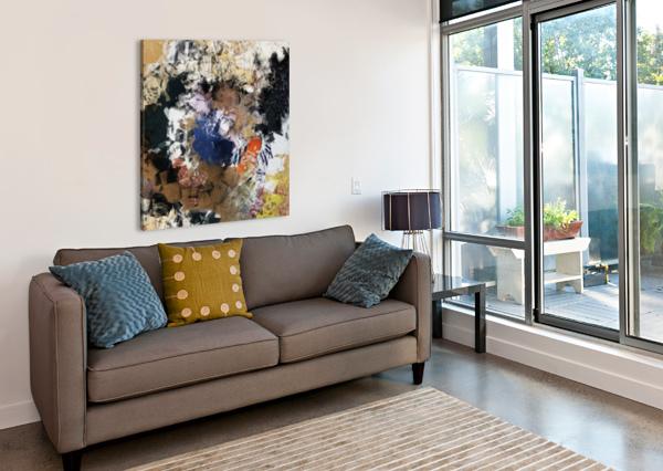 HOMELAND BLACK8ELISE  Canvas Print