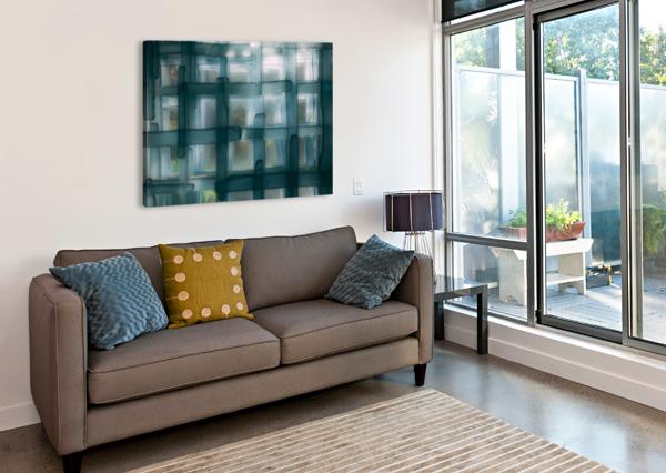 GLASS LINES 1 TRIPTYCH CAVALIERART  Canvas Print