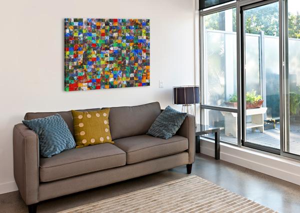 THE WALL OF RANDOM BRICKS BLACK8ELISE  Canvas Print