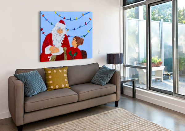 CHRISTMAS EVE. DAVID K THE ARC OF THE CAPITAL AREA  Canvas Print