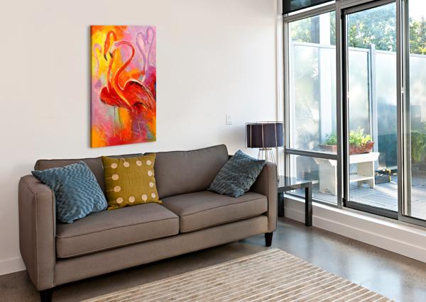 FLAMINGO OLHA DARCHUK   Canvas Print