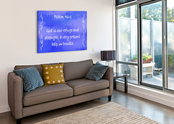 PSALM 46 1 4BL SCRIPTURE ON THE WALLS  Canvas Print