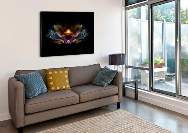 TREASURE OF NIGHT FRACTAL ART XZENDOR7  Canvas Print