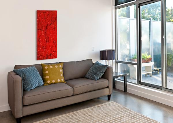 RED CELLS BETTY DE OLIVEIRA  Canvas Print