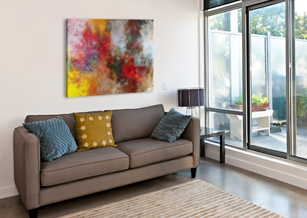 WINTER ROSES BLACK8ELISE  Canvas Print
