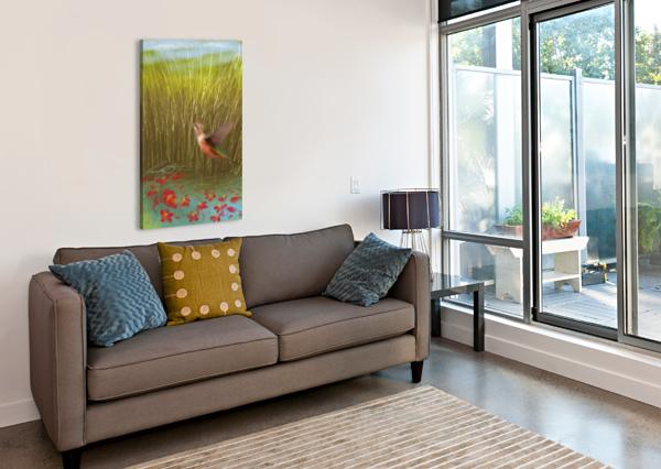 HUMMINGBIRD AFROCENTRIC PAINTER  Canvas Print