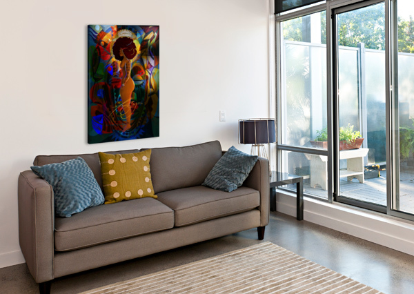 QUEEN AFROCENTRIC PAINTER  Canvas Print