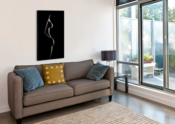 NUDE WOMAN BODYSCAPE 20 JOHAN SWANEPOEL  Canvas Print