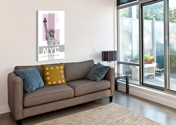 POSTER ART NYC STATUE OF LIBERTY | LIGHT PINK MELANIE VIOLA  Canvas Print