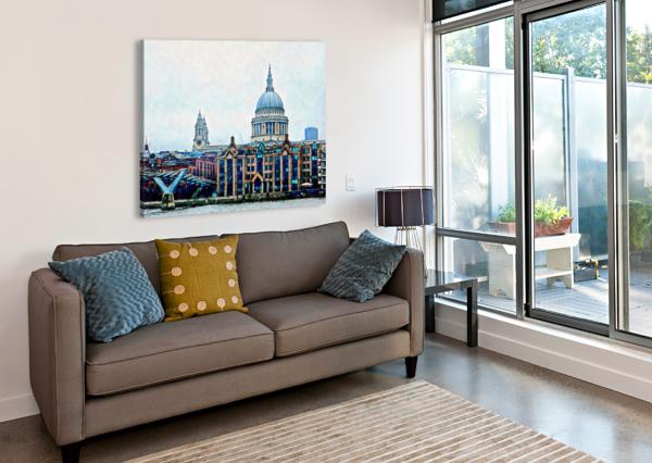 MILLENNIUM BRIDGE TO ST PAULS CATHEDRAL LONDON DOROTHY BERRY-LOUND  Canvas Print