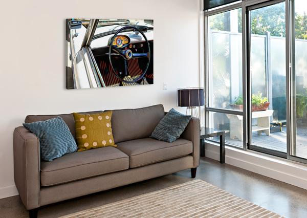 AUTOBIANCHI BIANCHINA THROUGH THE WINDOW DOROTHY BERRY-LOUND  Canvas Print