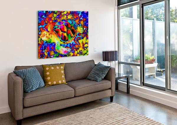 RAINBOW TURTLE DOROTHY BERRY-LOUND  Canvas Print