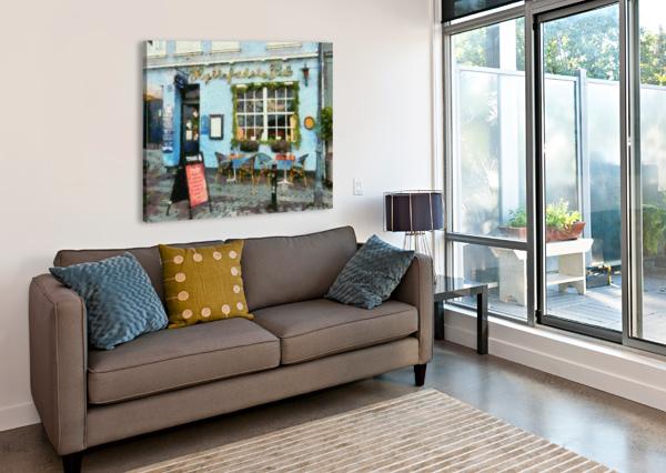BLUE CAFE COPENHAGEN DOROTHY BERRY-LOUND  Canvas Print