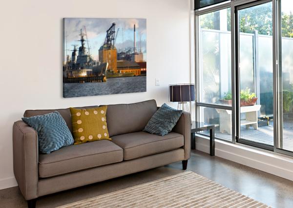 SHIPS AT HOLMEN DOROTHY BERRY-LOUND  Canvas Print