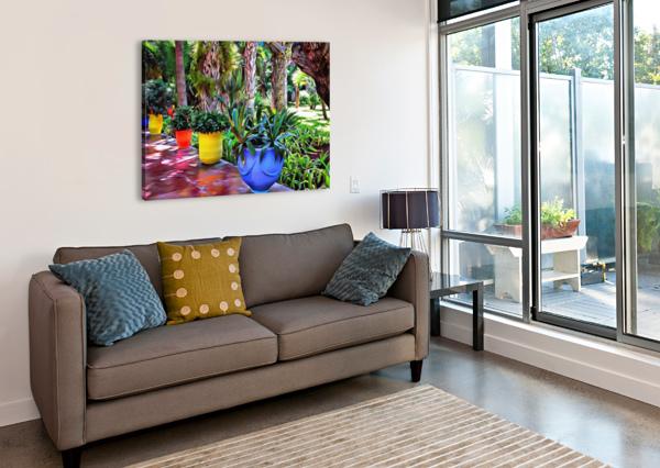 COLORFUL PLANT POTS MARRAKECH 9 DOROTHY BERRY-LOUND  Canvas Print
