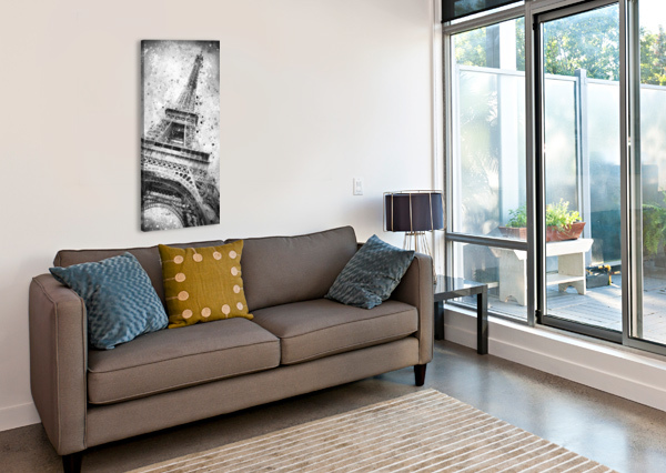 MONOCHROME ART EIFFEL TOWER  MELANIE VIOLA  Canvas Print