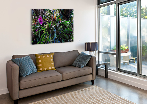 STAG HORN AND ORCHID FANTASY GARDEN DOROTHY BERRY-LOUND  Canvas Print