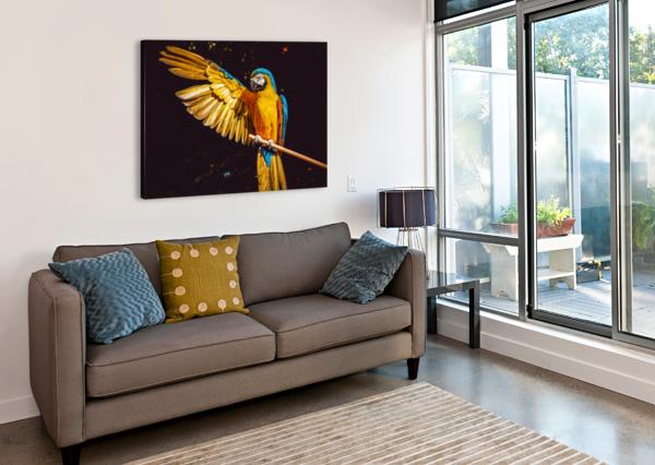 ARA PARROT YELLOW MACAW BIRD SHAMUDY  Canvas Print