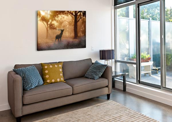 HIRSCH WILD ANTLER NATURE FOREST SHAMUDY  Canvas Print