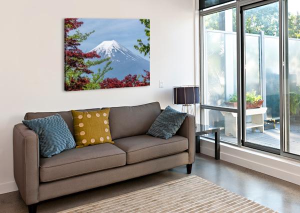 MOUNTAIN MOUNT LANDSCAPE JAPANESE SHAMUDY  Canvas Print