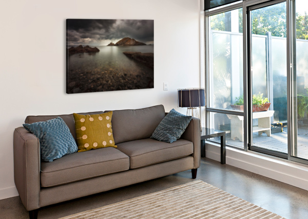ROUGH WEATHER OVER MUMBLES LIGHTHOUSE LEIGHTON COLLINS  Canvas Print