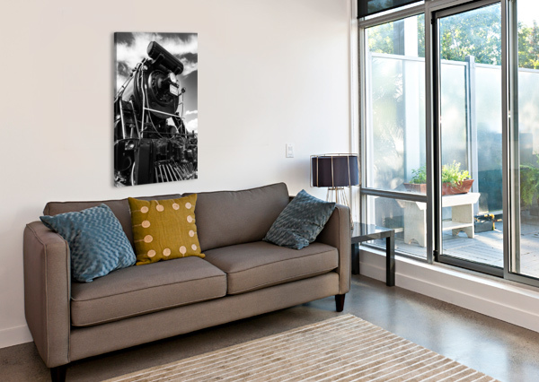 CANADIAN STEAM LOCOMOTIVE 6015 B DAVE THERRIEN  Canvas Print