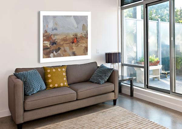 THE BEACH AT 50TH ST SARAH BUTCHER  Canvas Print