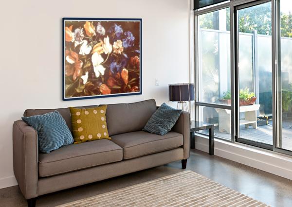 BRILLIANT FLORAL DISPLAY  GLORIA NOVA  Impression sur toile