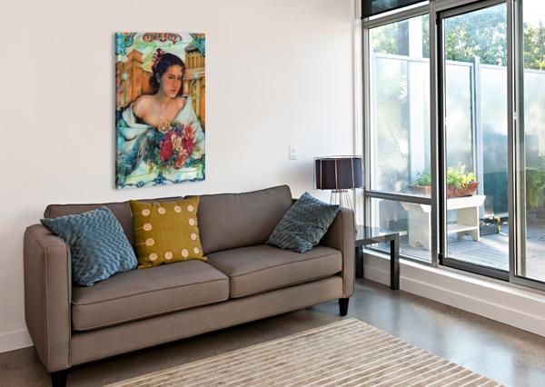. YBOR CITY ROSE   GLORIA NOVA  Canvas Print