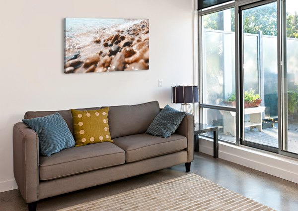PEBBLES AND RIPPLES AFTER THE SHUTTER PHOTOGRAPHY  Canvas Print