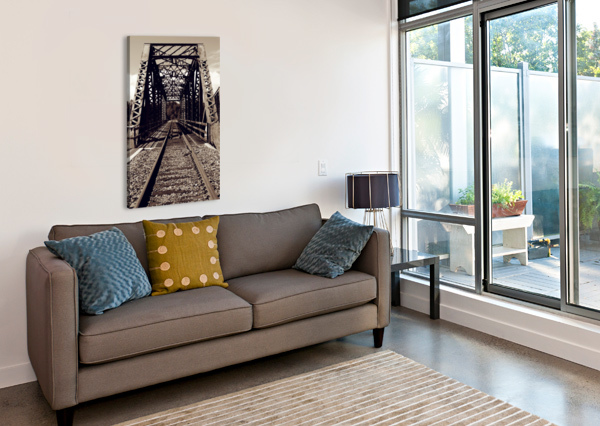 OVER THE BRIDGE AFTER THE SHUTTER PHOTOGRAPHY  Canvas Print