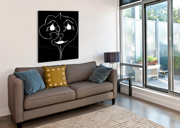 I WILL SMILE -BLACK BEARZE  Canvas Print