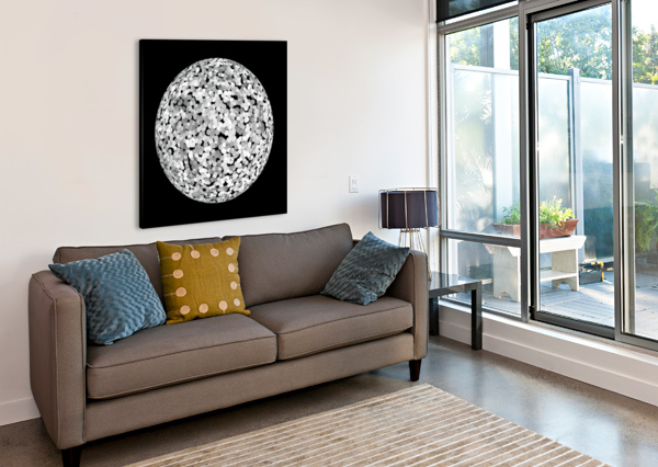 RONDO BLACK & WHITE CELINE CIMON  Canvas Print